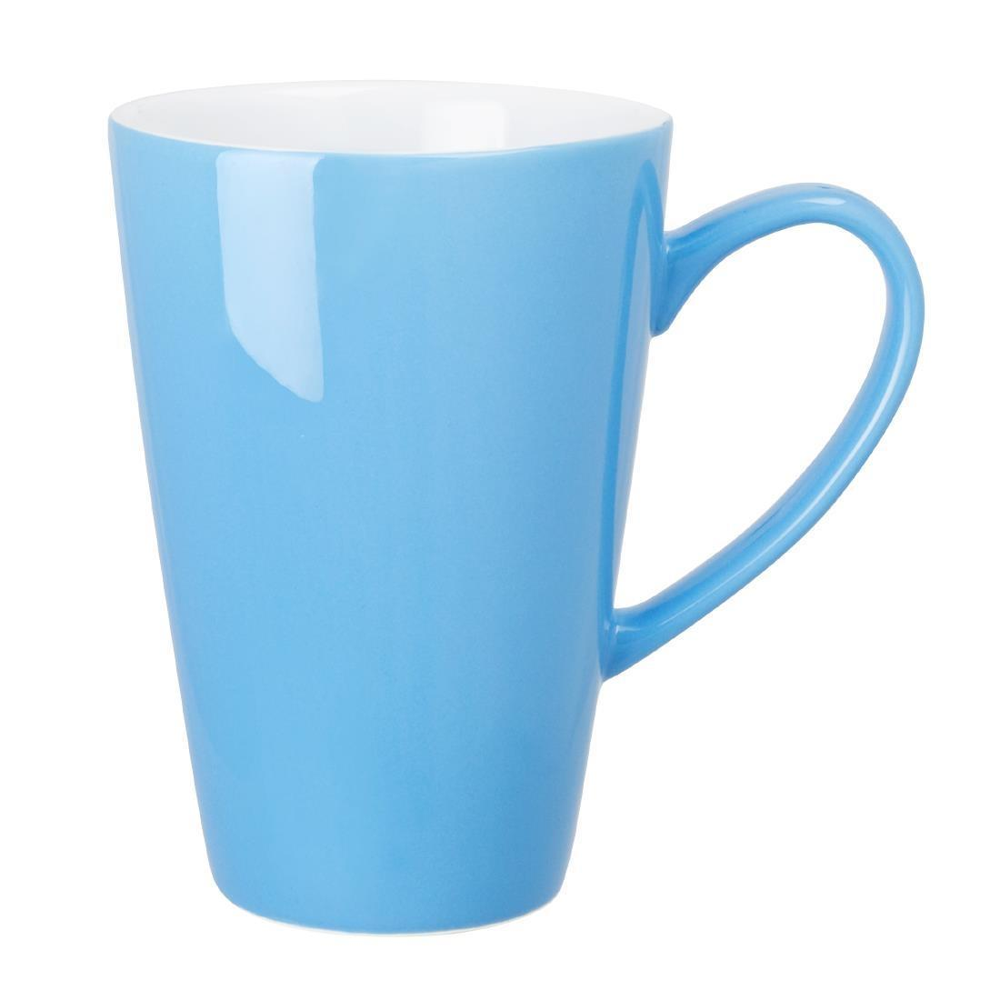 Olympia Cafe Latte Cup Blue 454ml