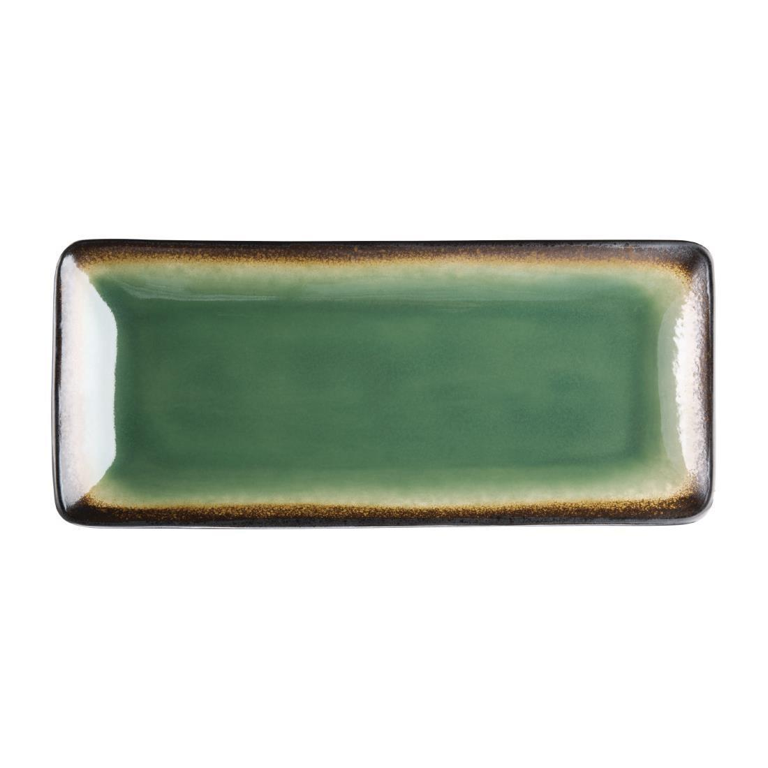 Olympia Nomi Rectangular Plate Green 245mm