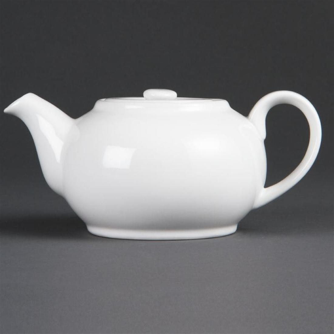 Bulk Buy Pack of 12 Olympia Whiteware Teapots 426ml