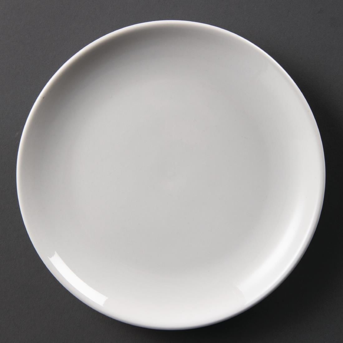 Olympia Whiteware Coupe Plates 200mm