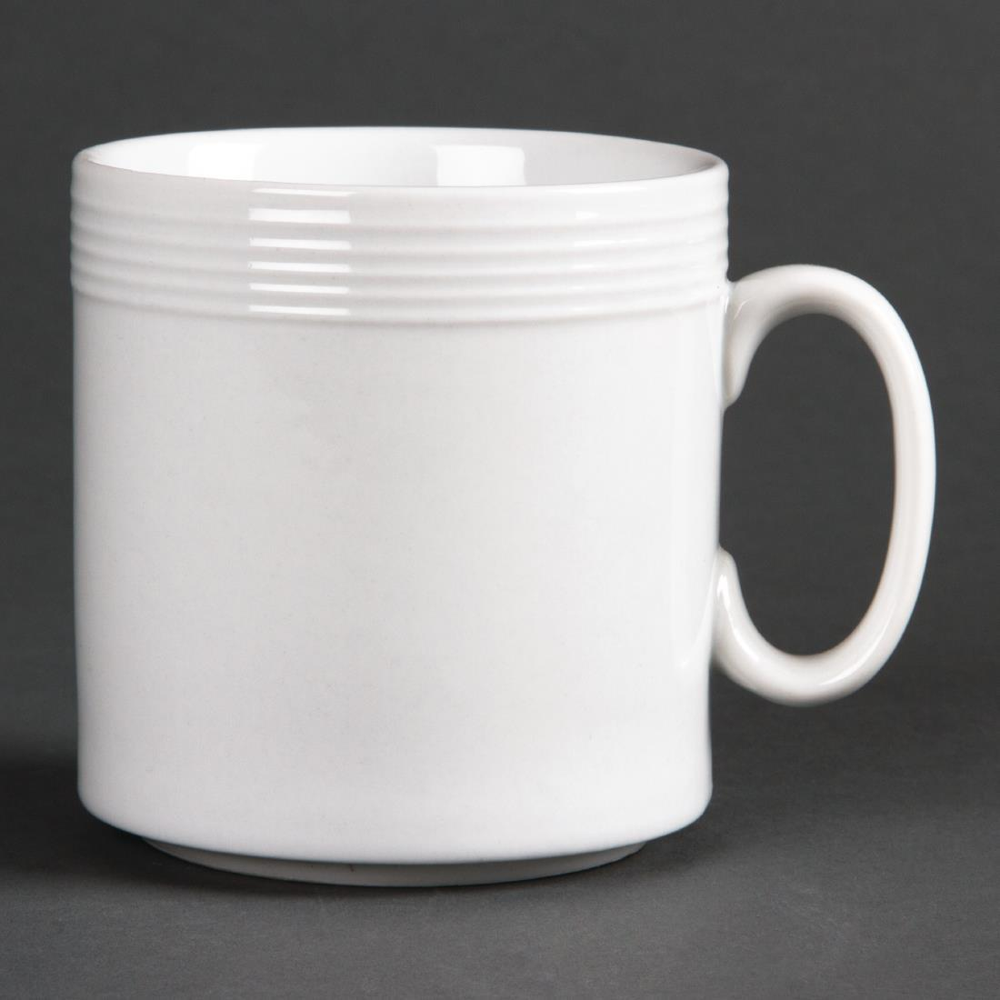 Olympia Linear Mugs 220ml 8oz