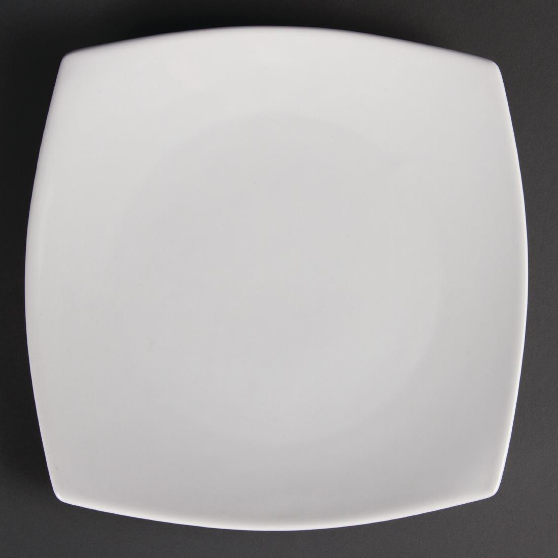 Olympia Whiteware Rounded Square Plates 240mm