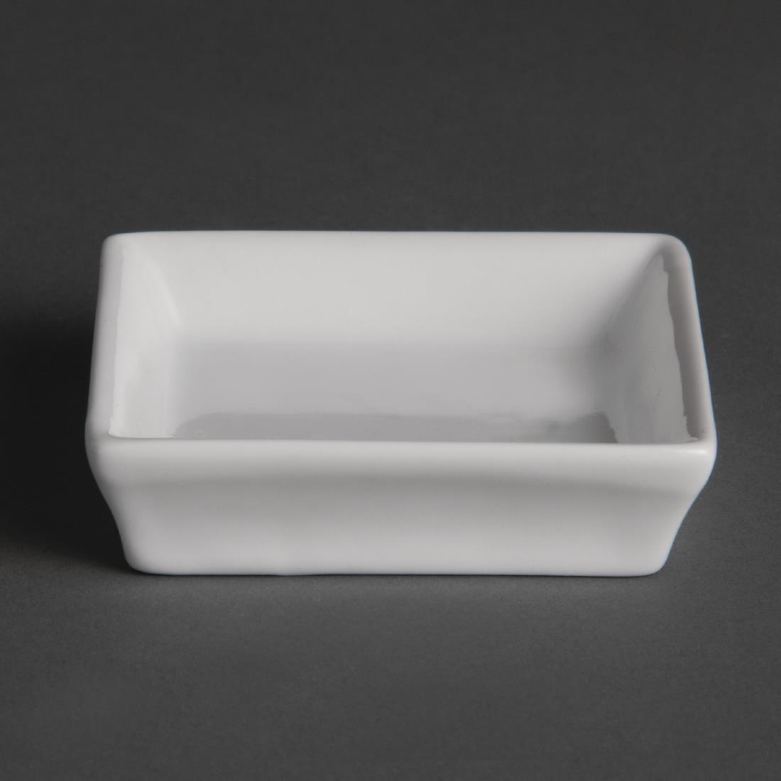 Olympia Flat Square Miniature Dishes 80mm