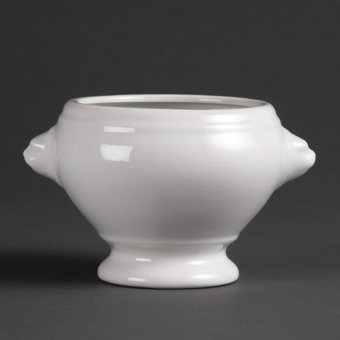 Olympia Whiteware Lion Head Soup Bowls 475ml