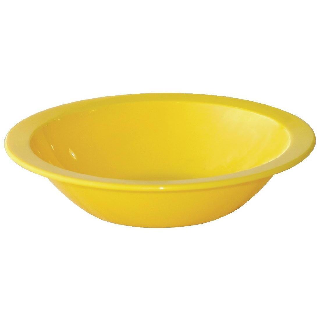 Kristallon Polycarbonate Bowls Yellow 172mm - Case 12 - CB771