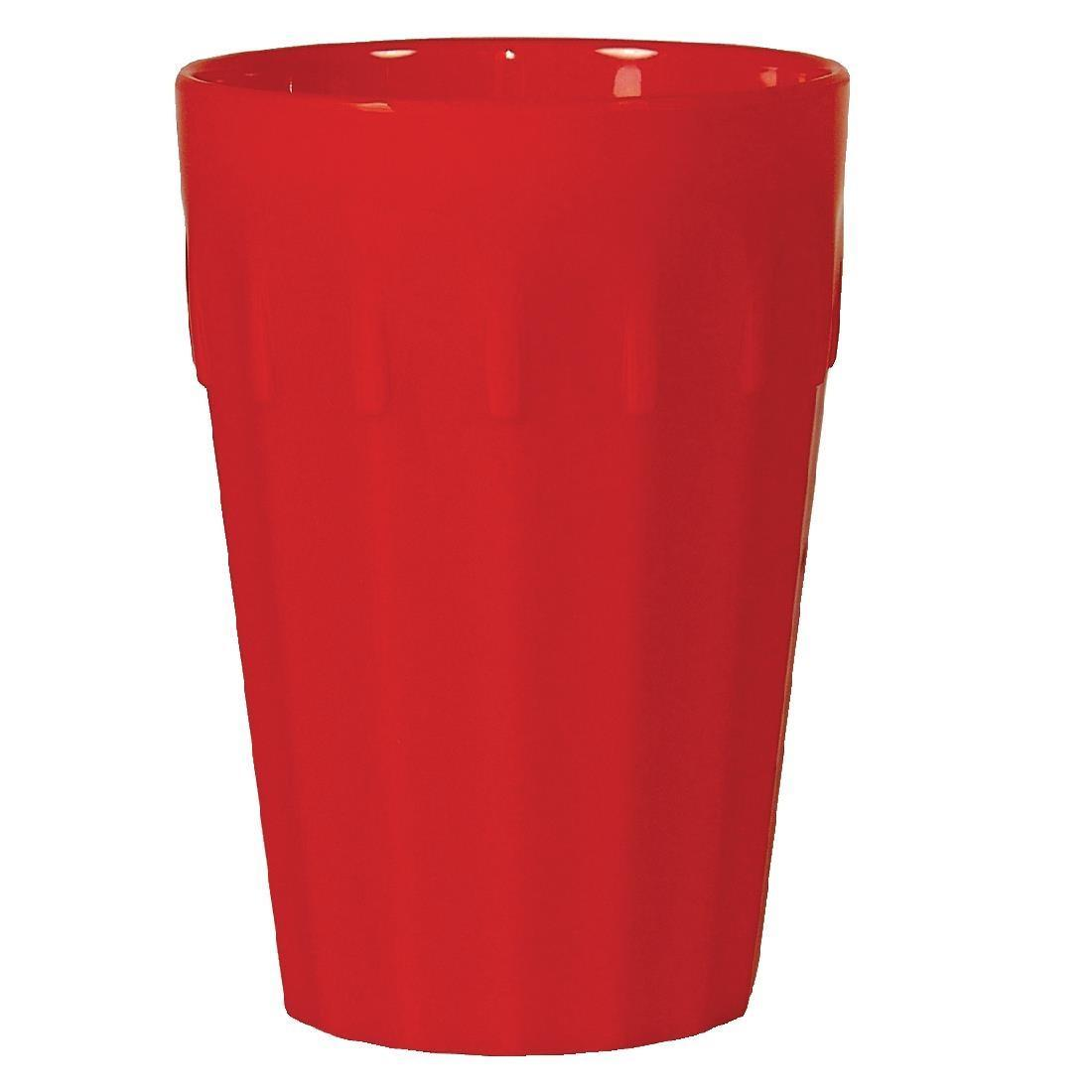 Kristallon Polycarbonate Tumblers Red 142ml - Case 12 - CE273