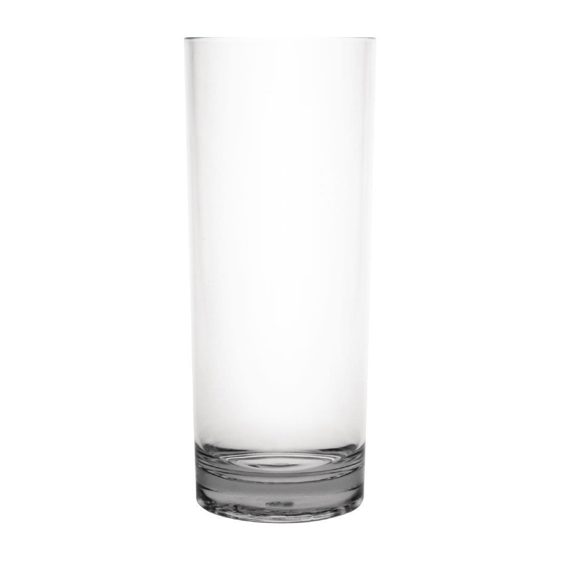 Kristallon Polycarbonate Hi Ball Glasses Clear 360ml - Case 6 - DC924