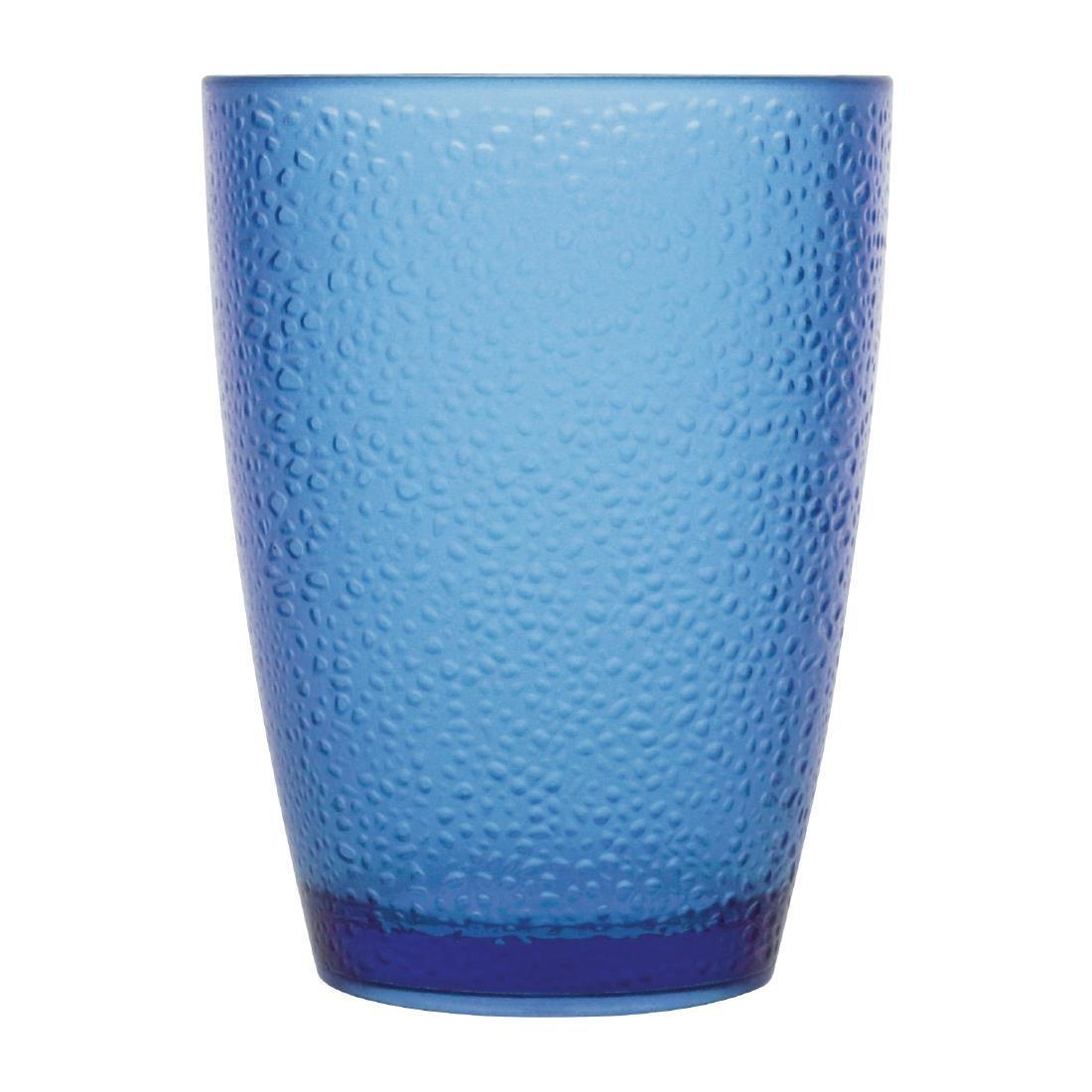 Kristallon Polycarbonate Tumbler Pebbled Blue 275ml - Case 6 - DC929