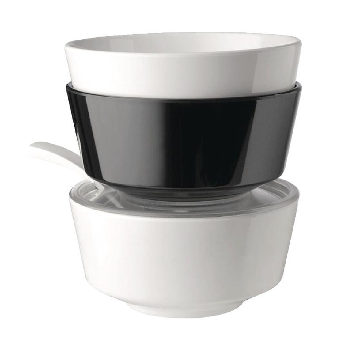 APS Float Black Round Bowl 8in - Each - GF089