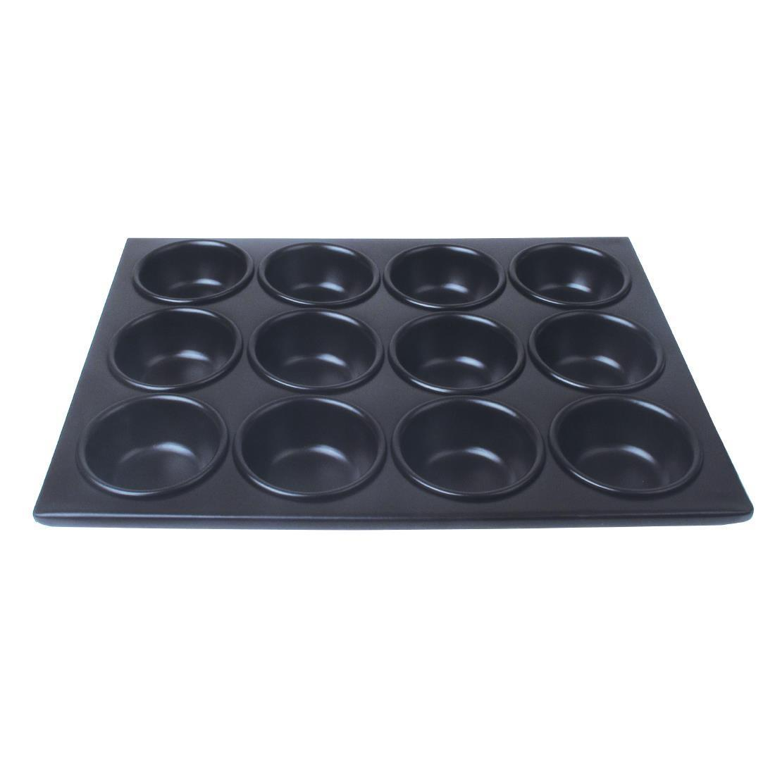 Vogue Aluminium Non-Stick Muffin Tray 12 Cup - Each - C562
