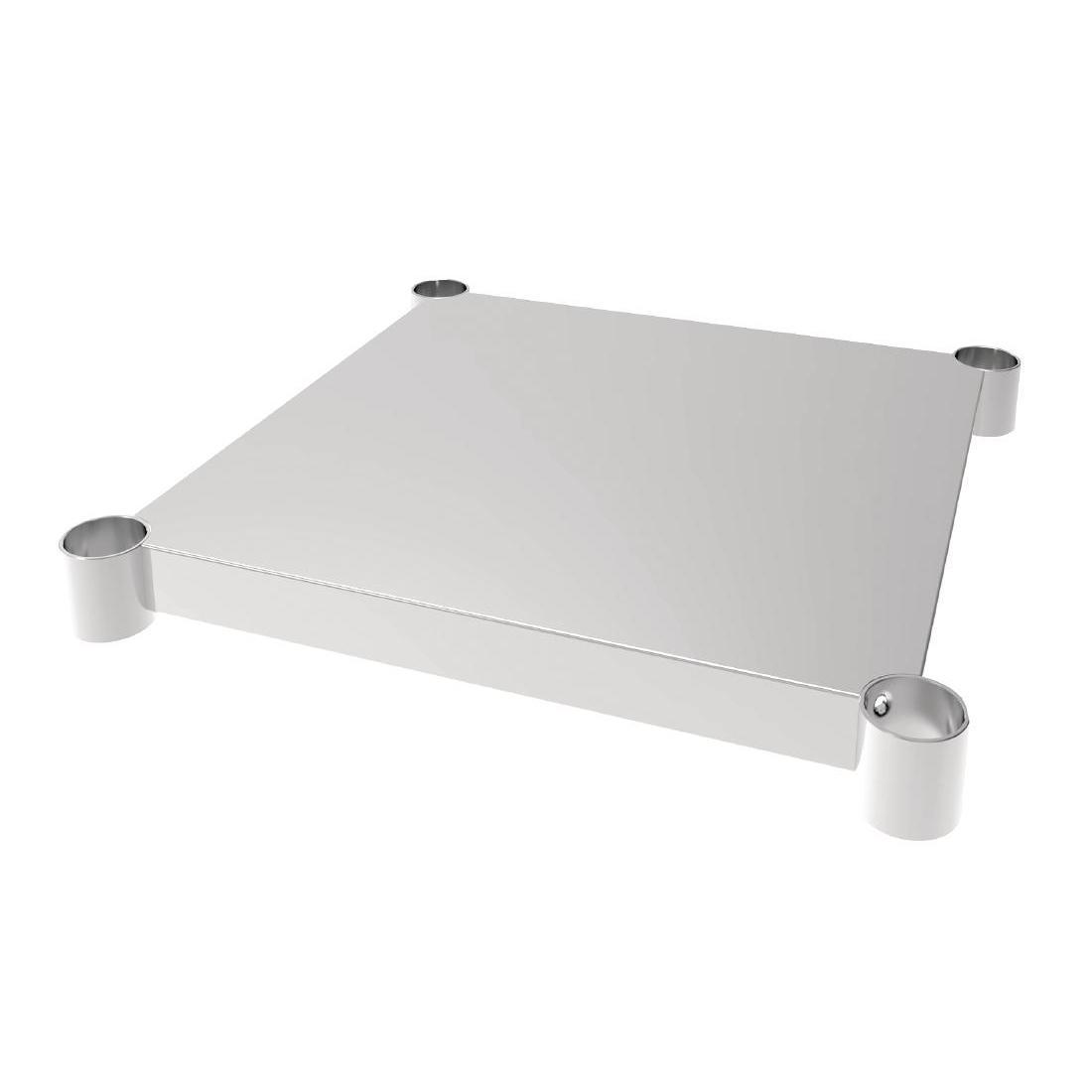 Vogue Stainless Steel Table Shelf 600x600mm - Each - CP830