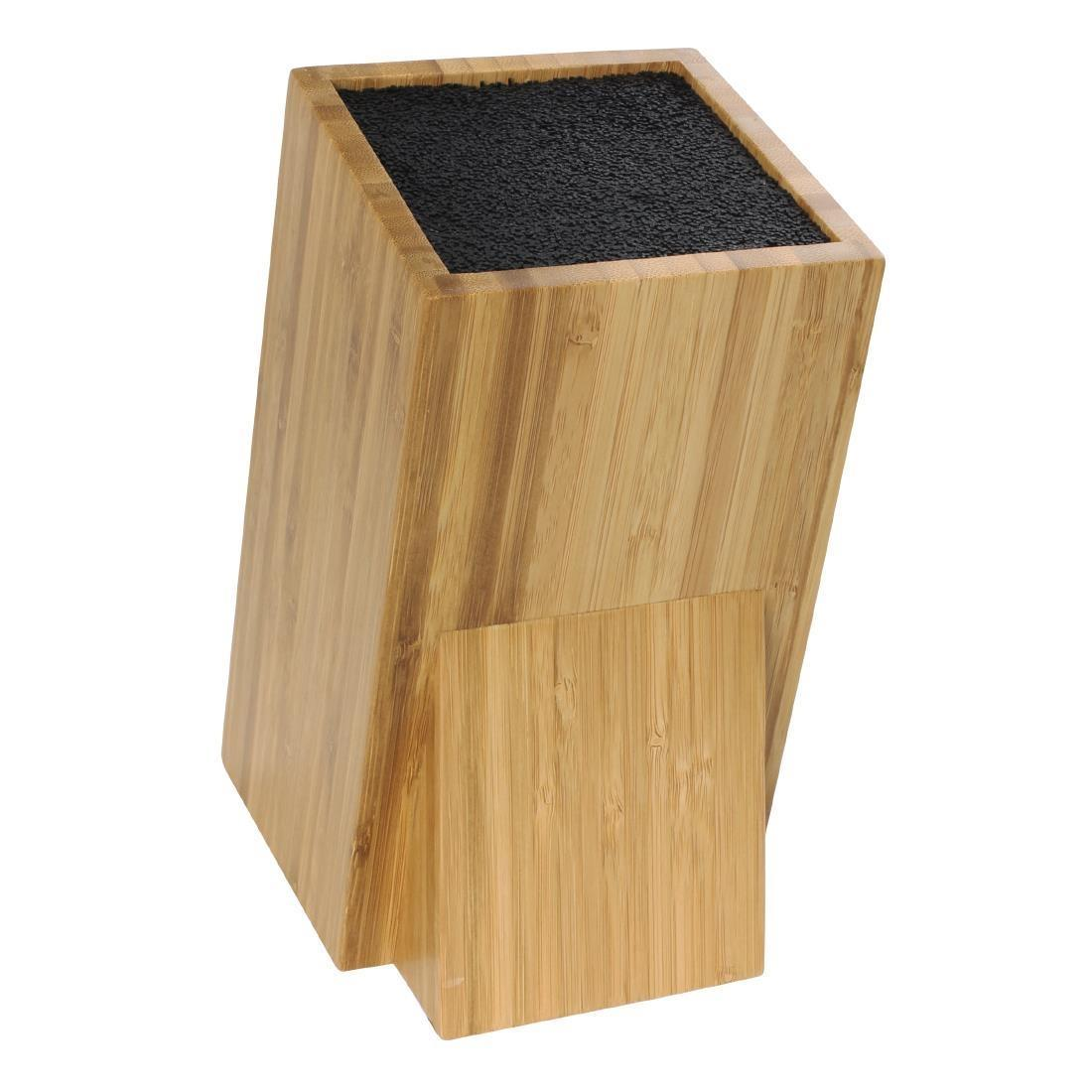 Vogue Wooden Universal Knife Block - Each - CP862