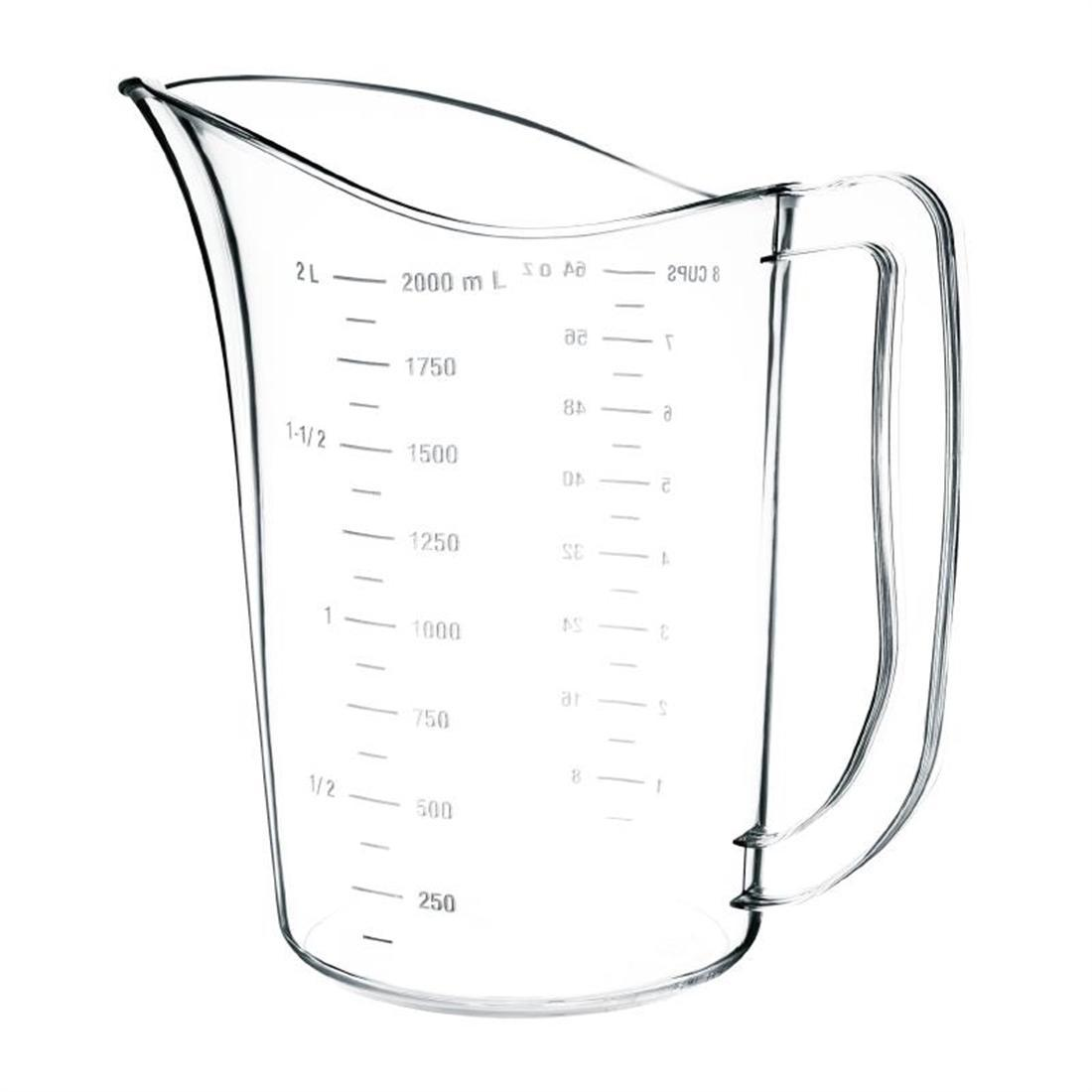 Vogue Polycarbonate Measuring Jug 2L - Each - DB452