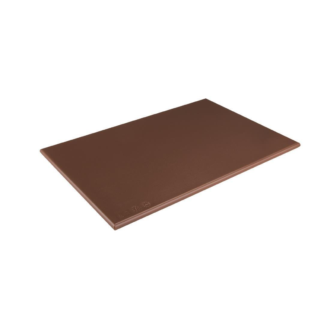 Hygiplas Anti-bacterial Low Density Chopping Board Brown