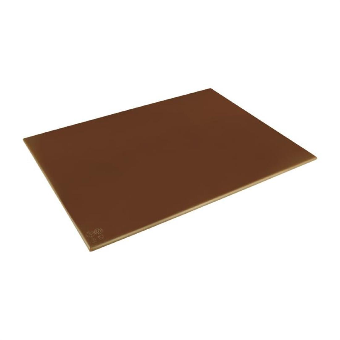 Hygiplas High Density Brown Chopping Board Large