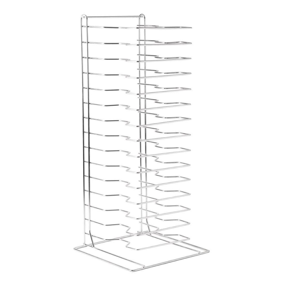 Vogue Pizza Pan Stacking Rack 15 Slot - Each - F027