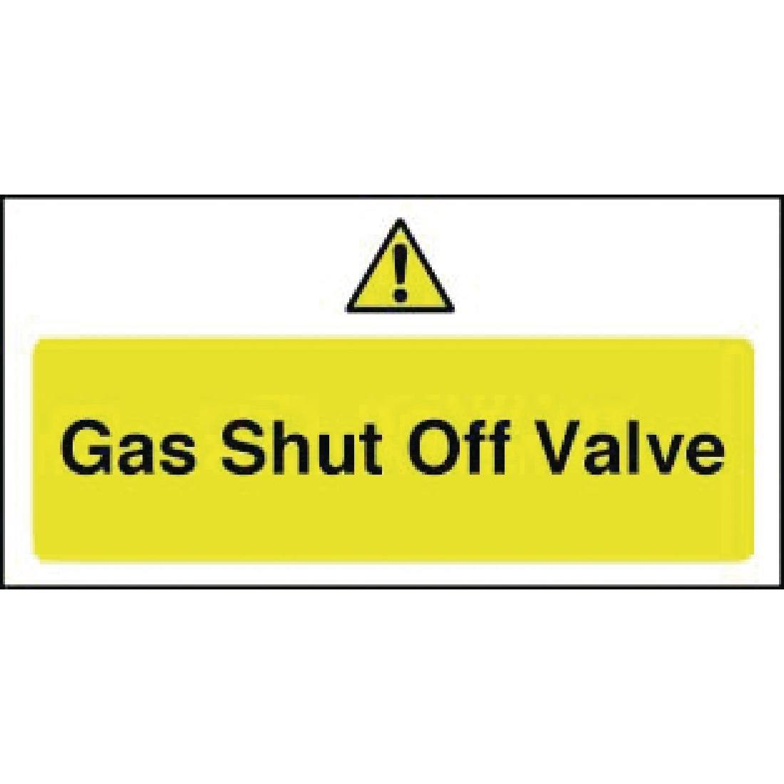 Gas Shut Off Valve Sign - Y913