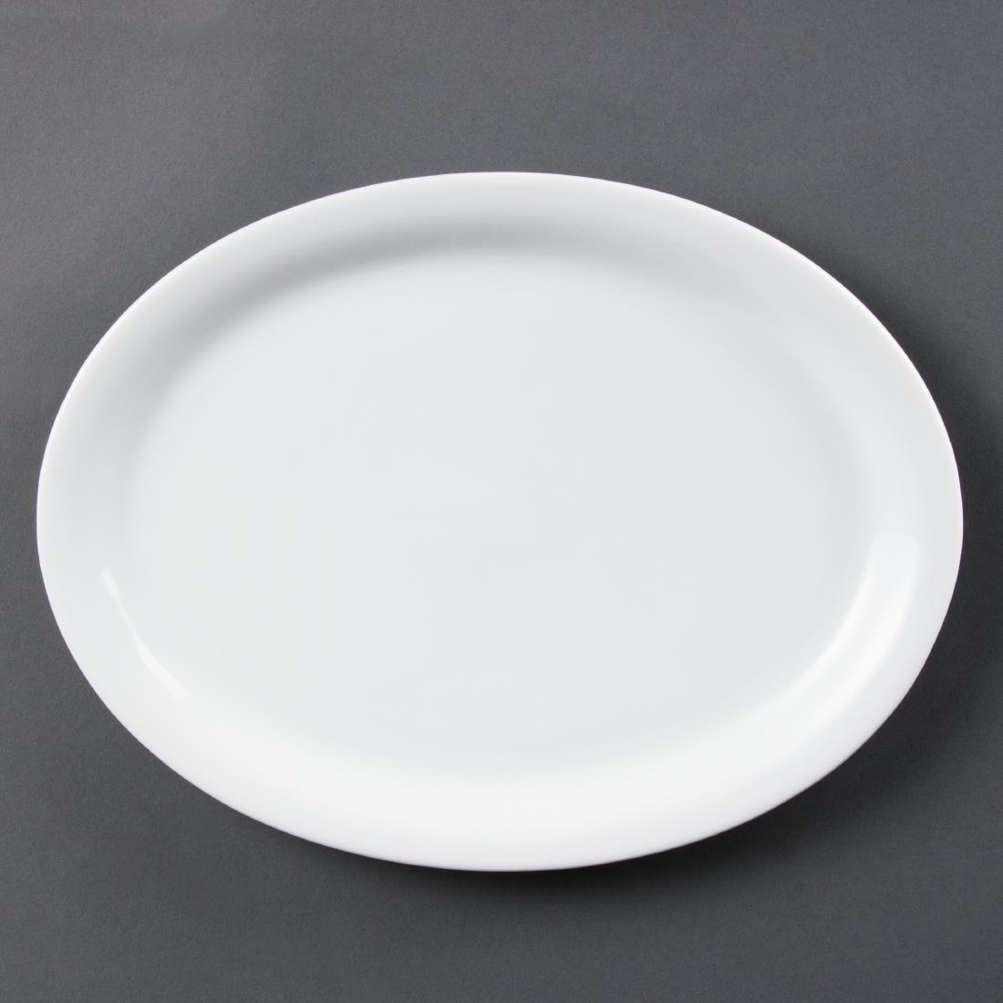 Olympia Whiteware Oval Platters 295mm