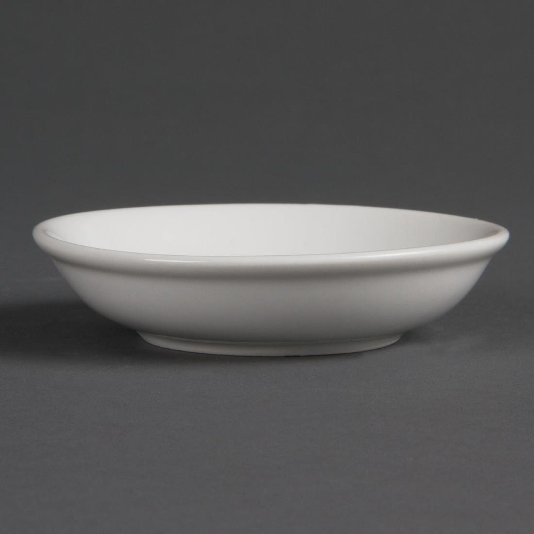 Olympia Whiteware Soy Dishes 100mm