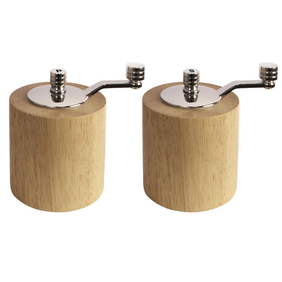 Light Wood Salt and Pepper Mill Grinder Set