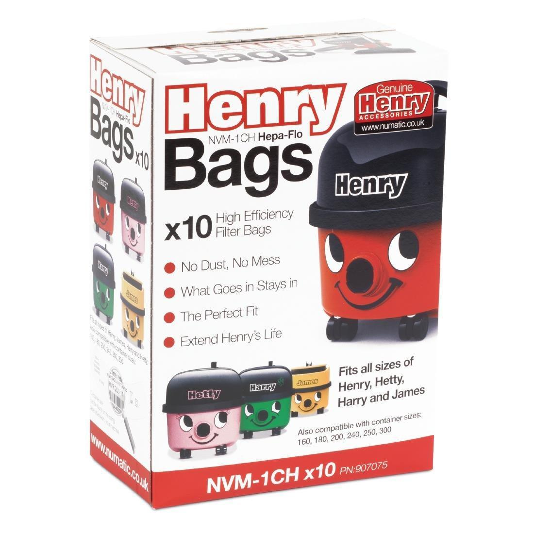 Numatic Henry Replacement Dust Bags (Pack of 10) - DW159