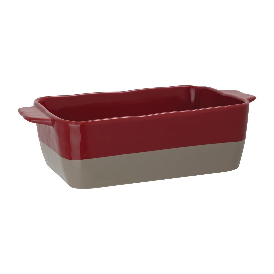 Olympia Red And Taupe Ceramic Roasting Dish ???GN