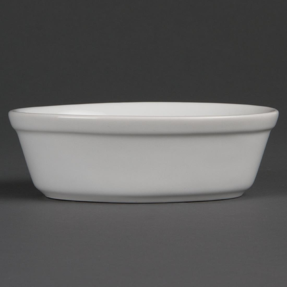 Olympia Whiteware Oval Pie Bowls 161mm
