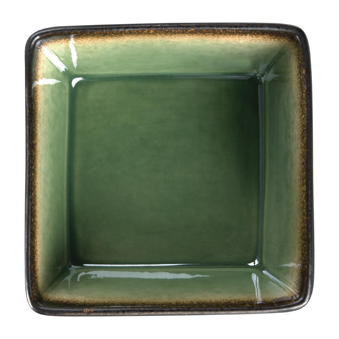 Olympia Nomi Square Bowl Green 110mm