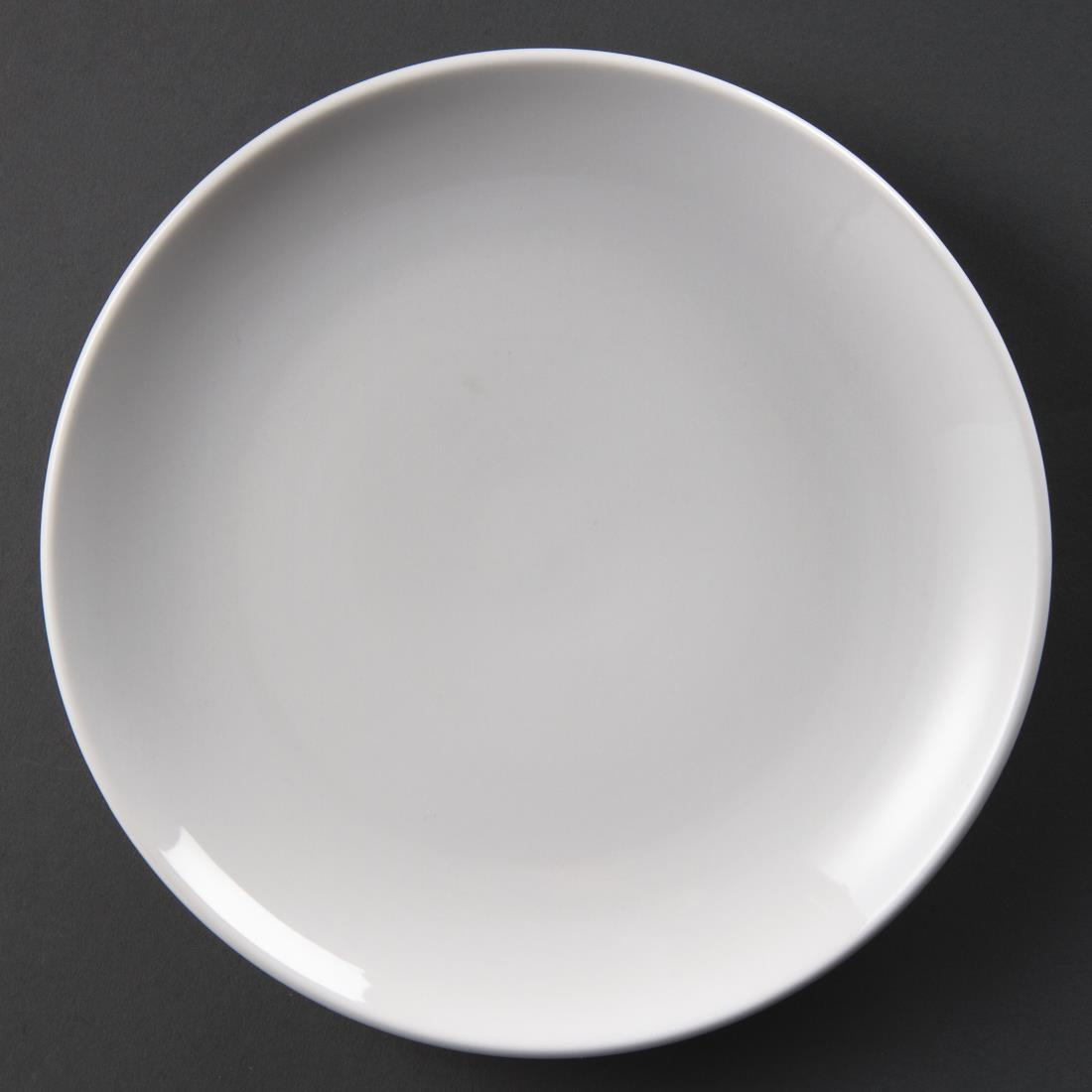 Olympia Whiteware Coupe Plates 230mm