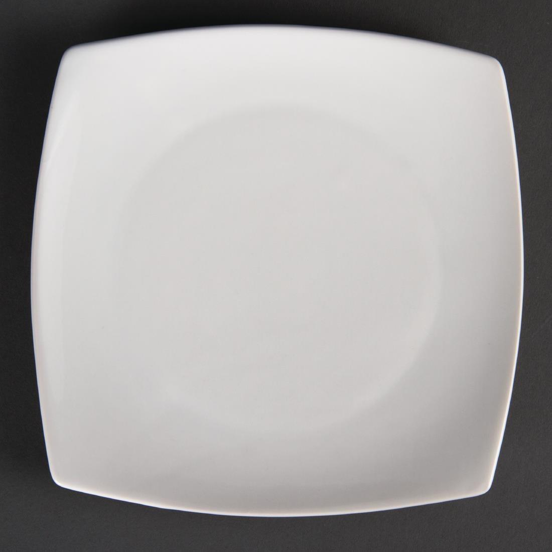 Olympia Whiteware Rounded Square Plates 185mm