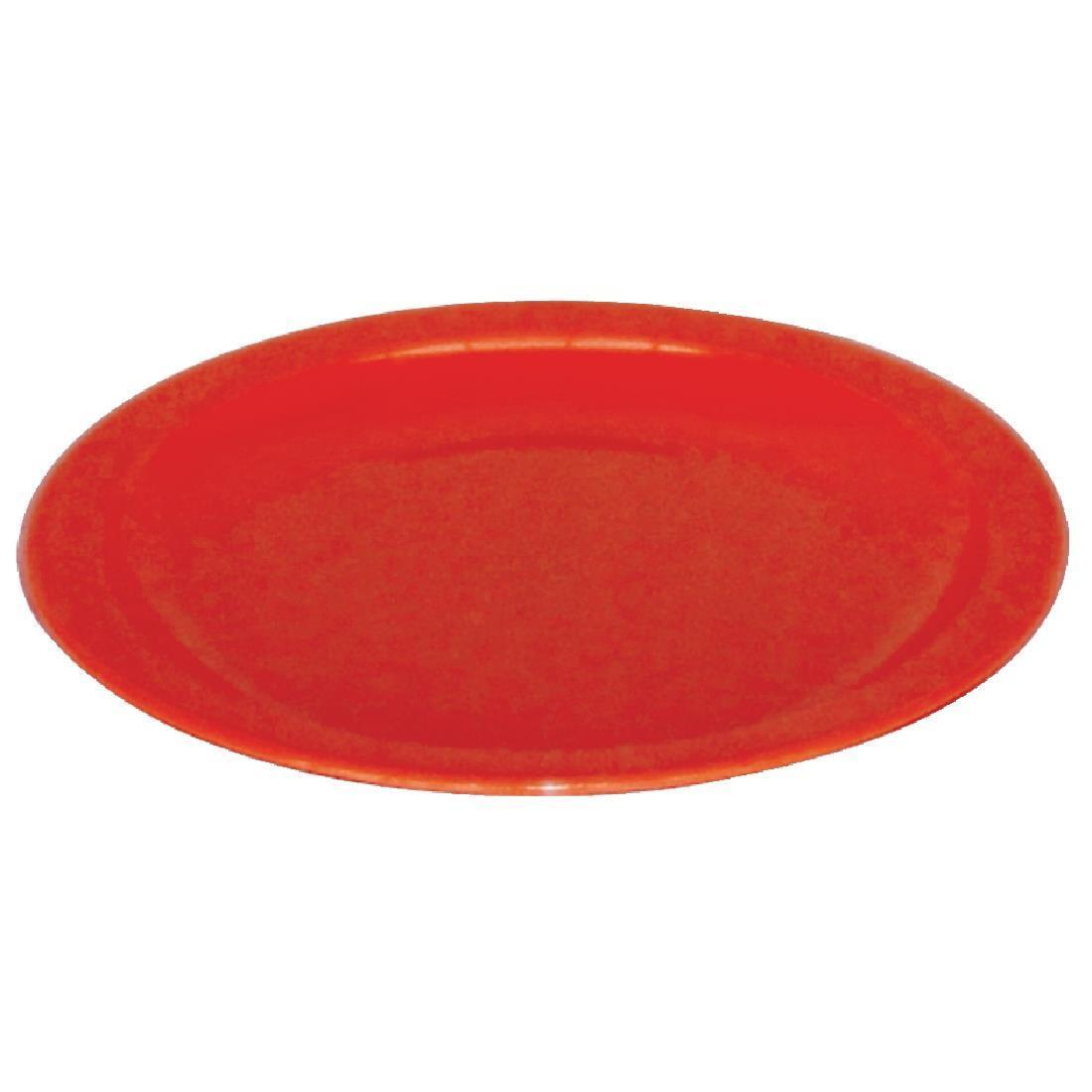 Kristallon Polycarbonate Plates Red 230mm - Case 12 - CB770