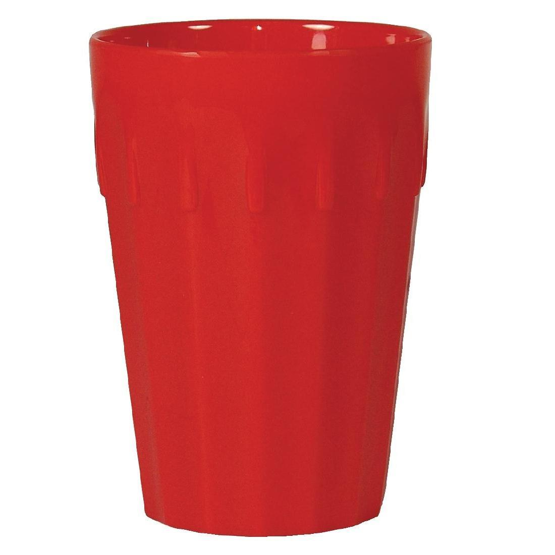 Kristallon Polycarbonate Tumblers Red 260ml - Case 12 - CB778