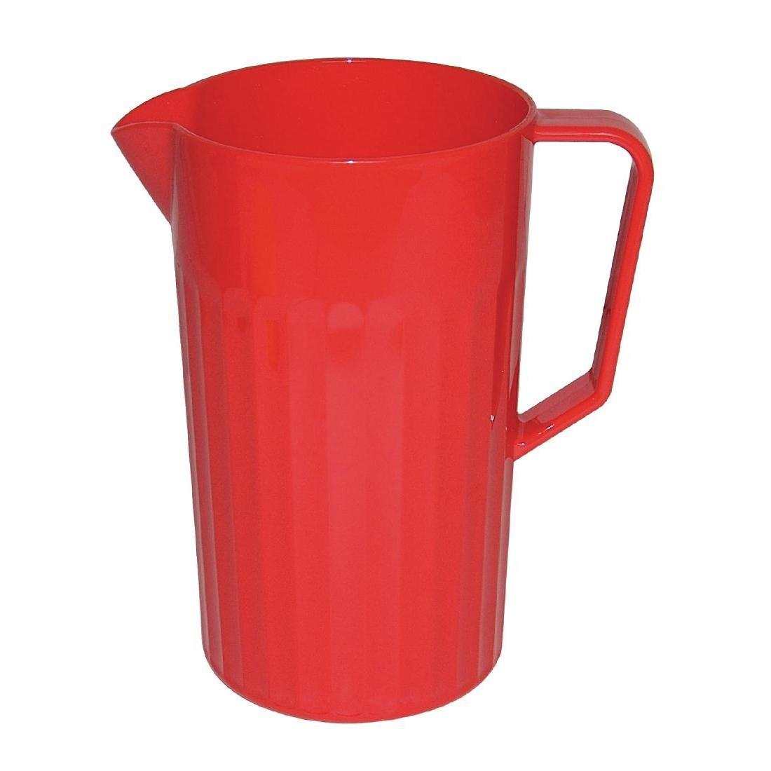 Kristallon Polycarbonate Jug Red 1.4Ltr - Each - CE281