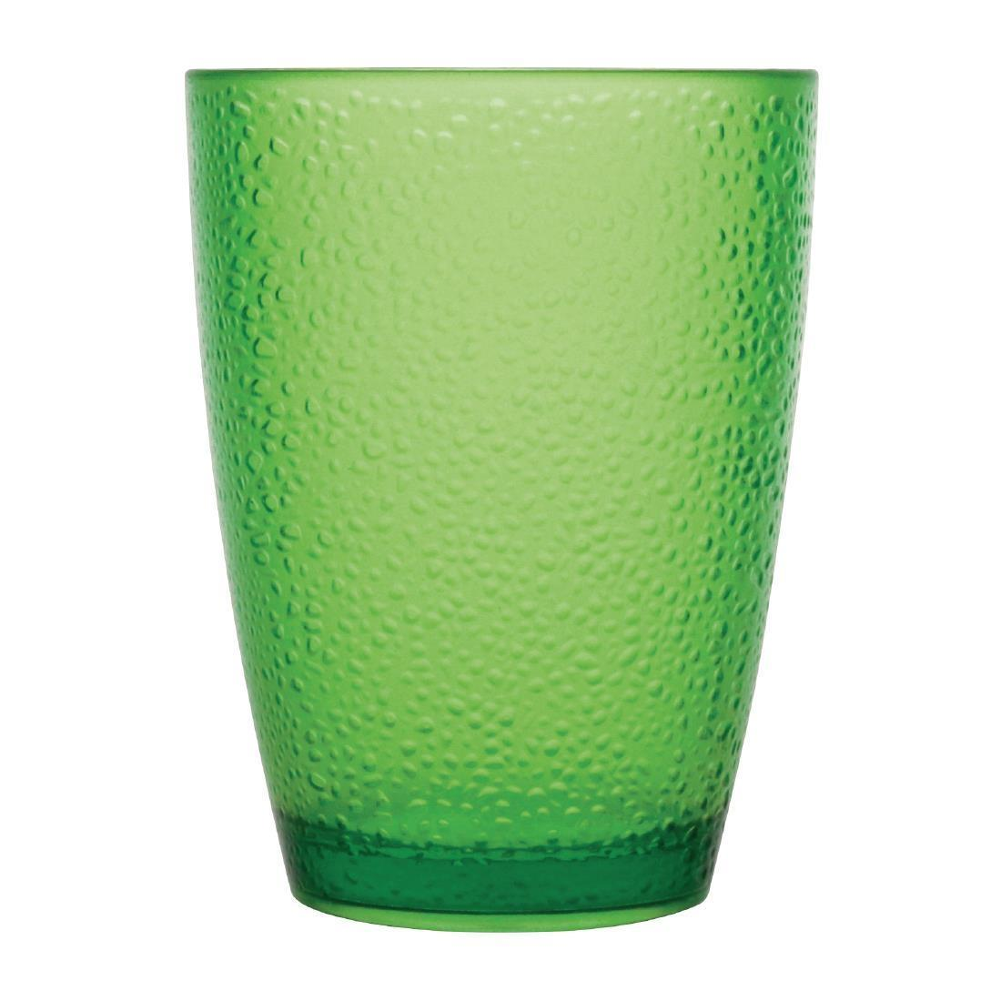 Kristallon Polycarbonate Tumbler Pebbled Green 275ml - Case 6 - DC930