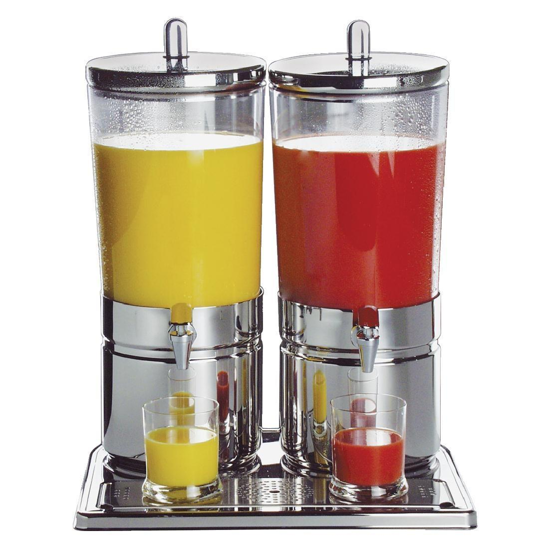 APS Stainless Steel Juice Dispenser Double - Each - CF066