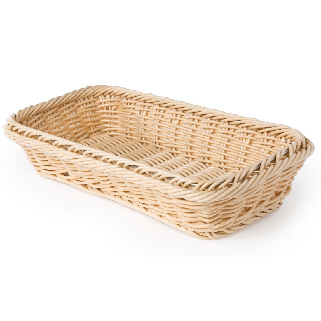 Polypropylene Natural Rattan Basket 1/3 GN - Each - CF304