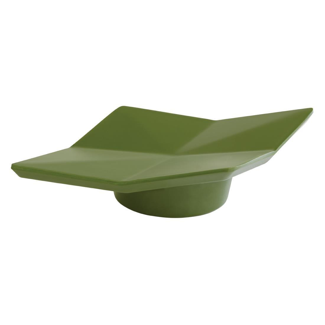 APS+ Small Lotus Leaf Plate Dark Green 150mm - Each - DT794