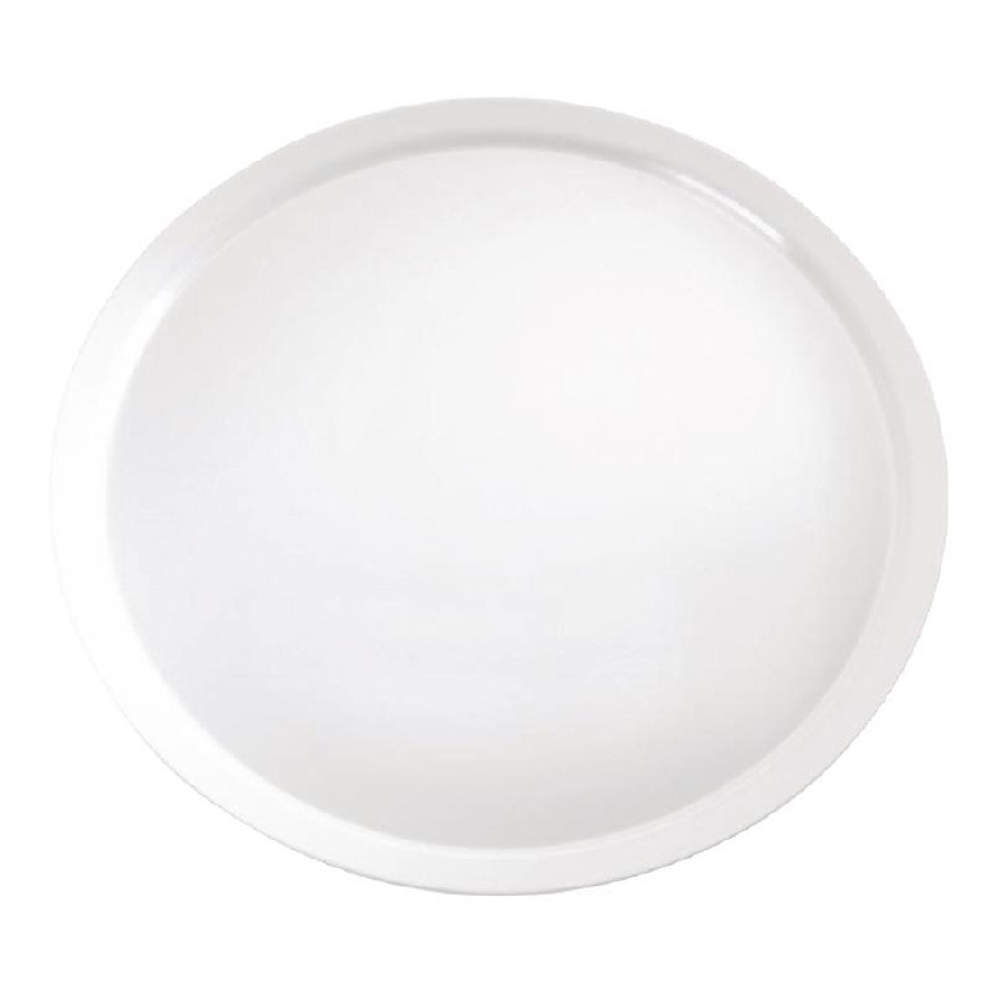APS Pure Melamine Round Tray White 510mm - Each - GF152