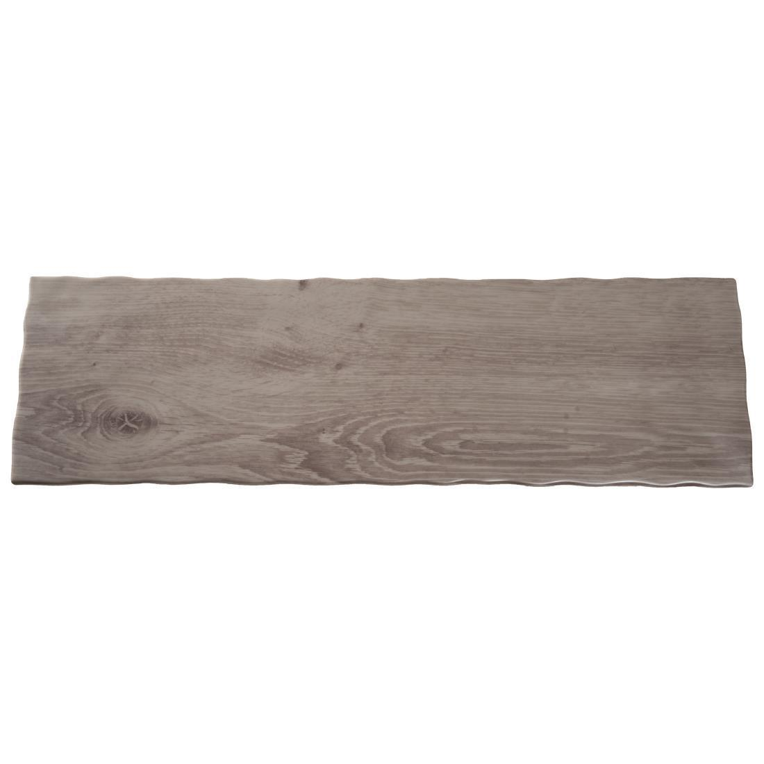 APS Wood Effect Melamine Tray GN 2/4 - Each - GK649