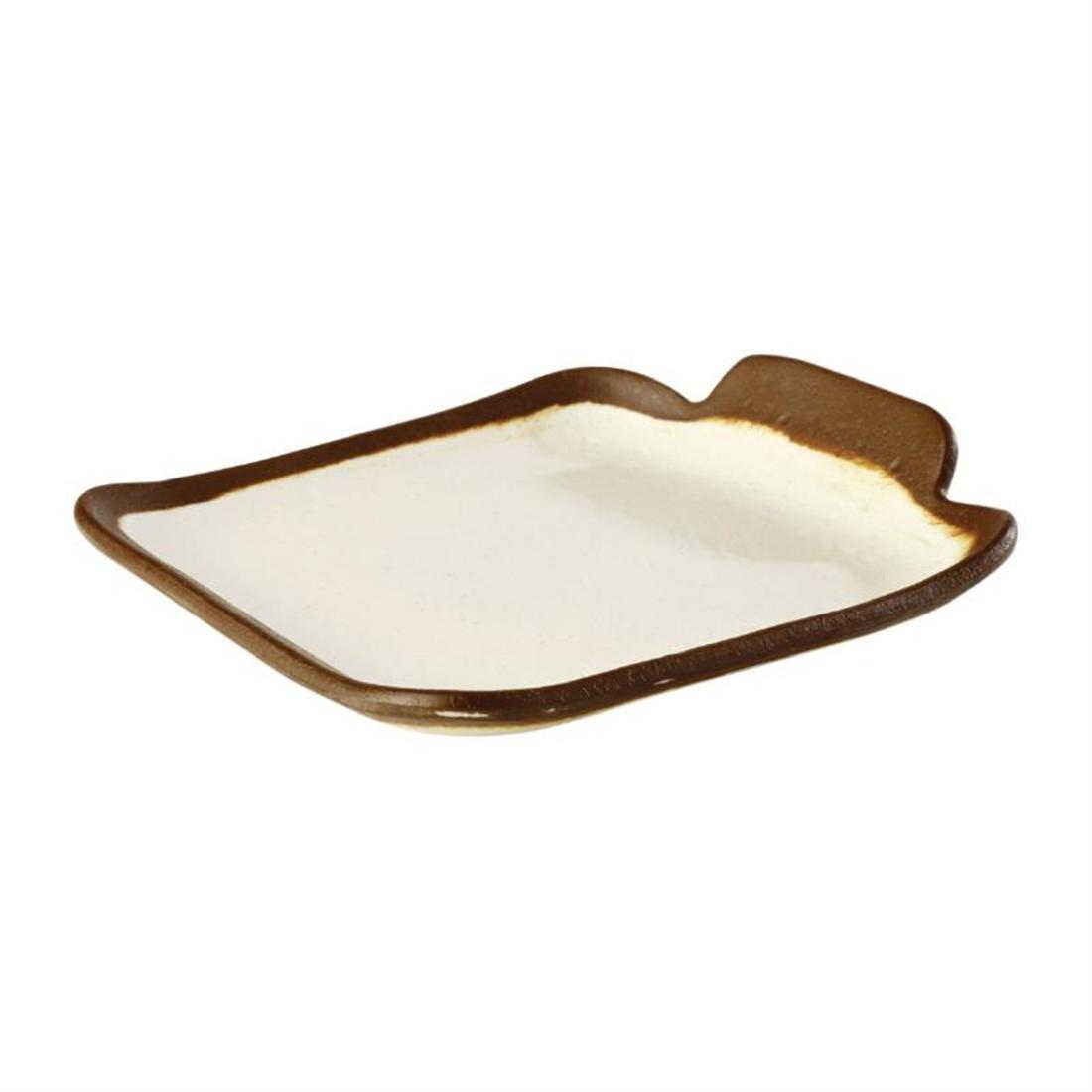 APS Crocker Square Platter Cream 140mm - Each - HC723