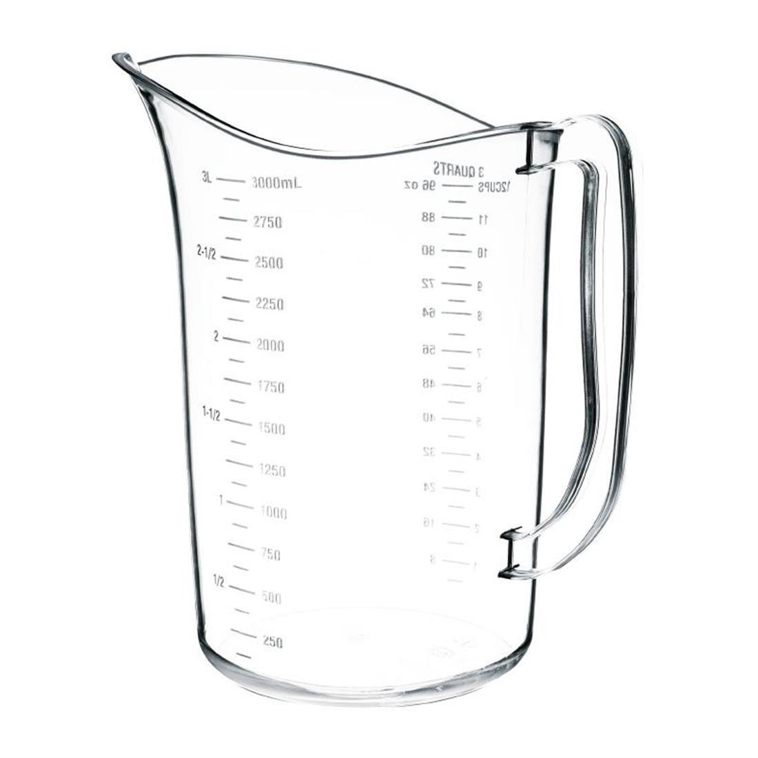Vogue Polycarbonate Measuring Jug 3L - Each - DB453