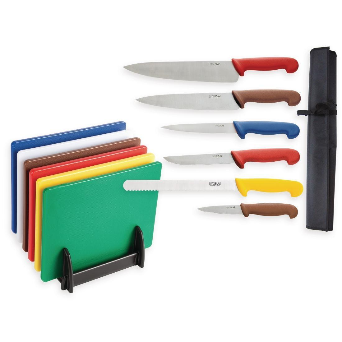 Special Offer Hygiplas Chopping Boards and Knife Set