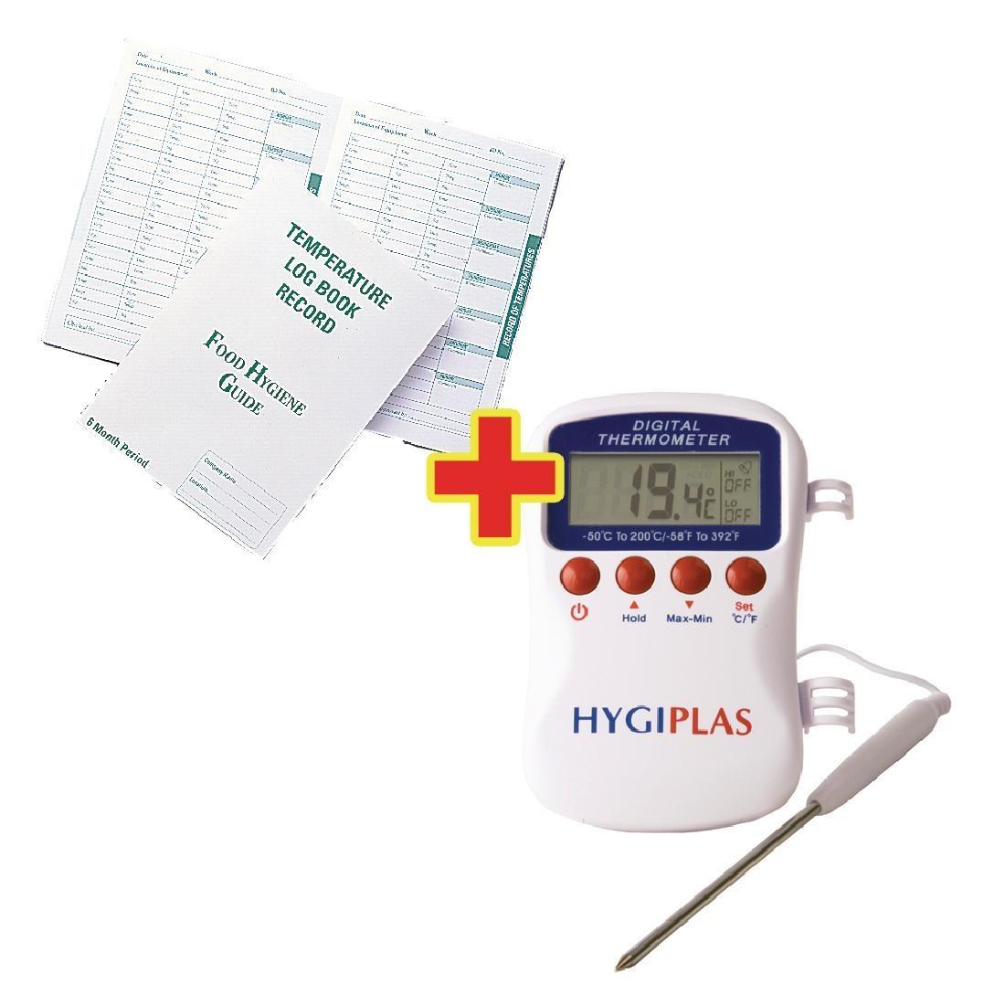 Special Offer Hygiplas Multistem Thermometer and Temperature Log Book