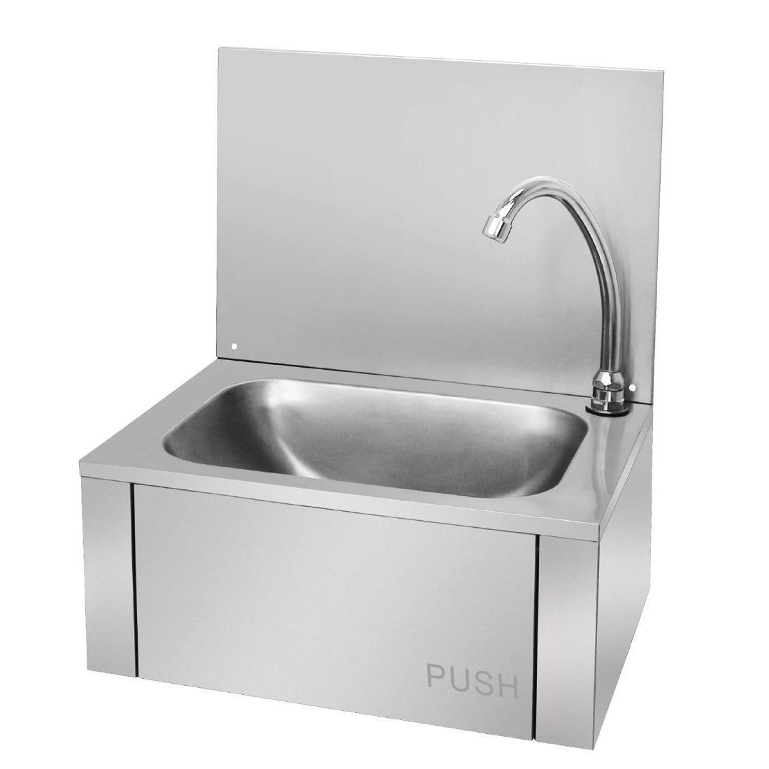 Vogue Stainless Steel Knee Operated Sink - Each - GL280