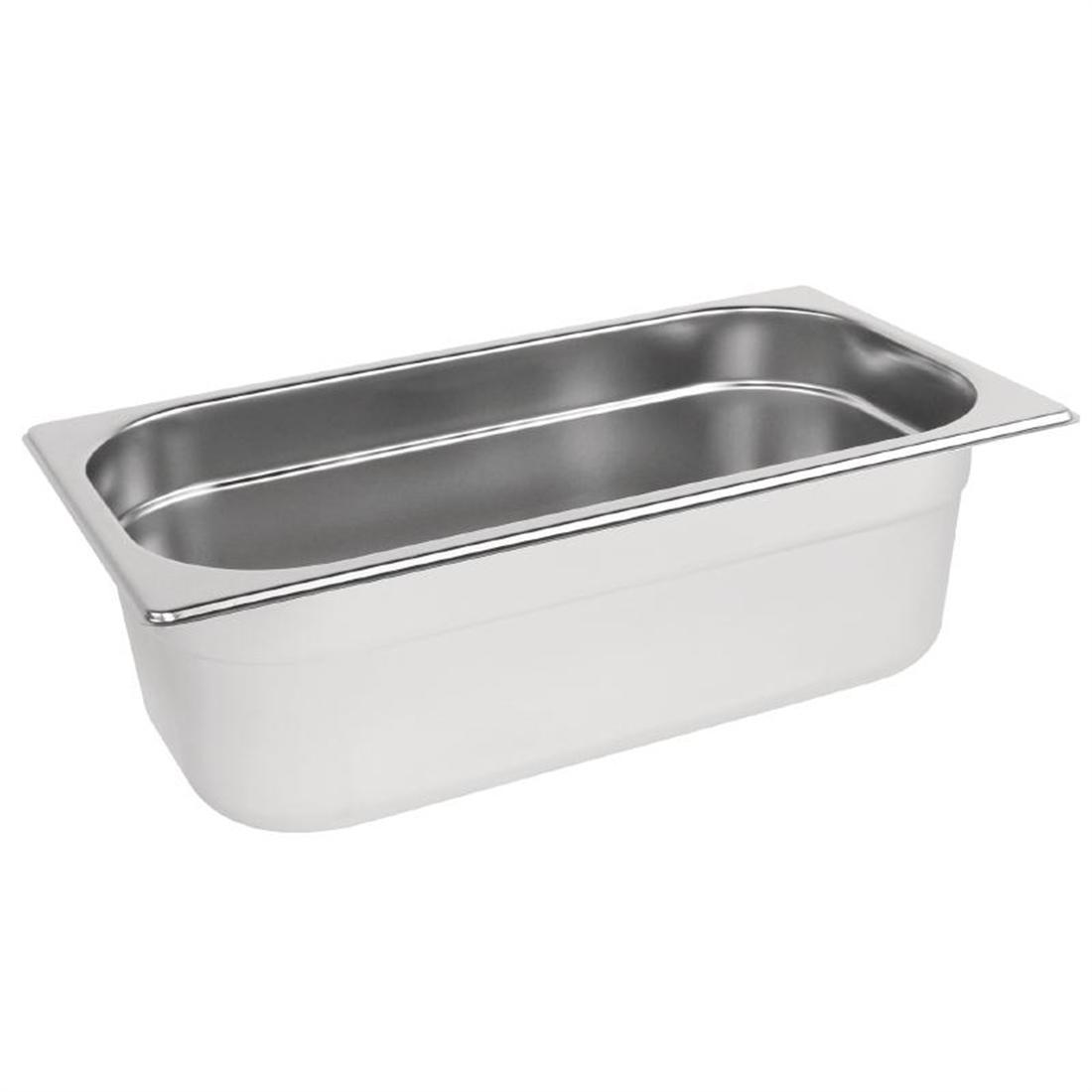 Vogue Stainless Steel 1/3 Gastronorm Pan 100mm - K933