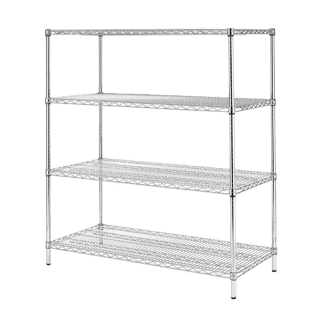 Vogue 4 Tier Wire Shelving Kit 1830x610mm - U259
