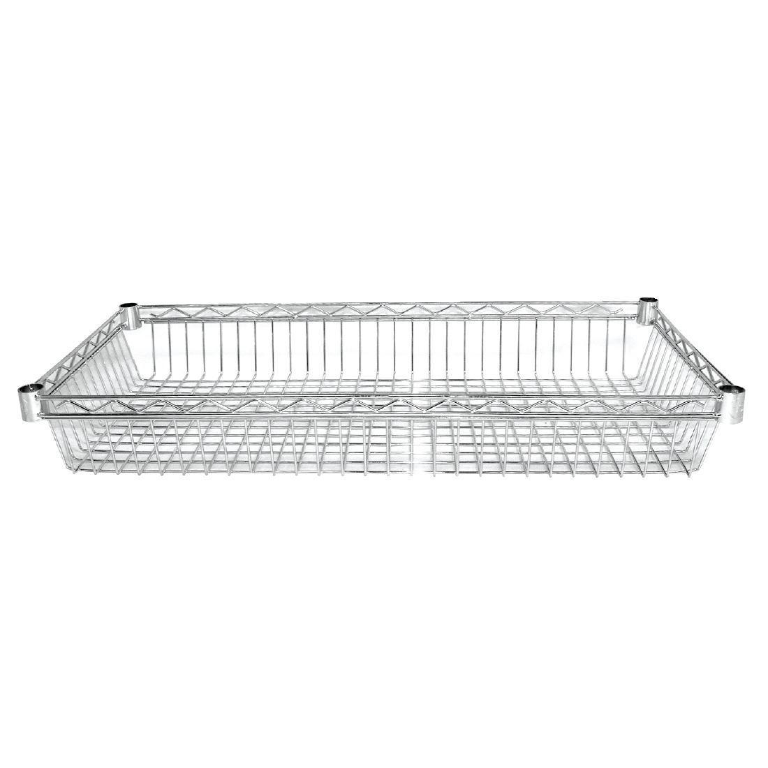 Vogue Chrome Baskets 1220mm Pack of 2 - Y496