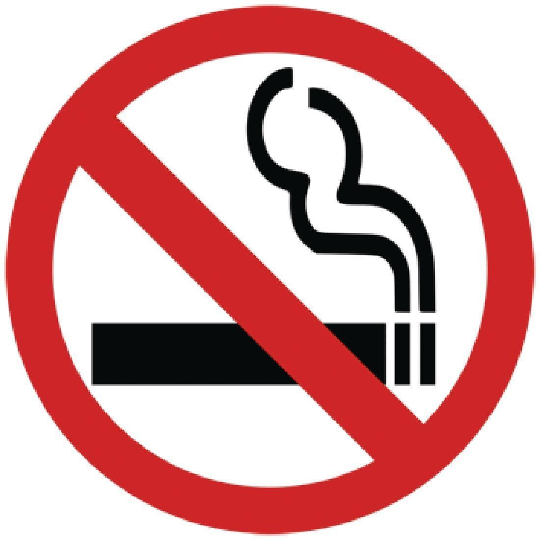 No Smoking Symbol Window Sign - Y937