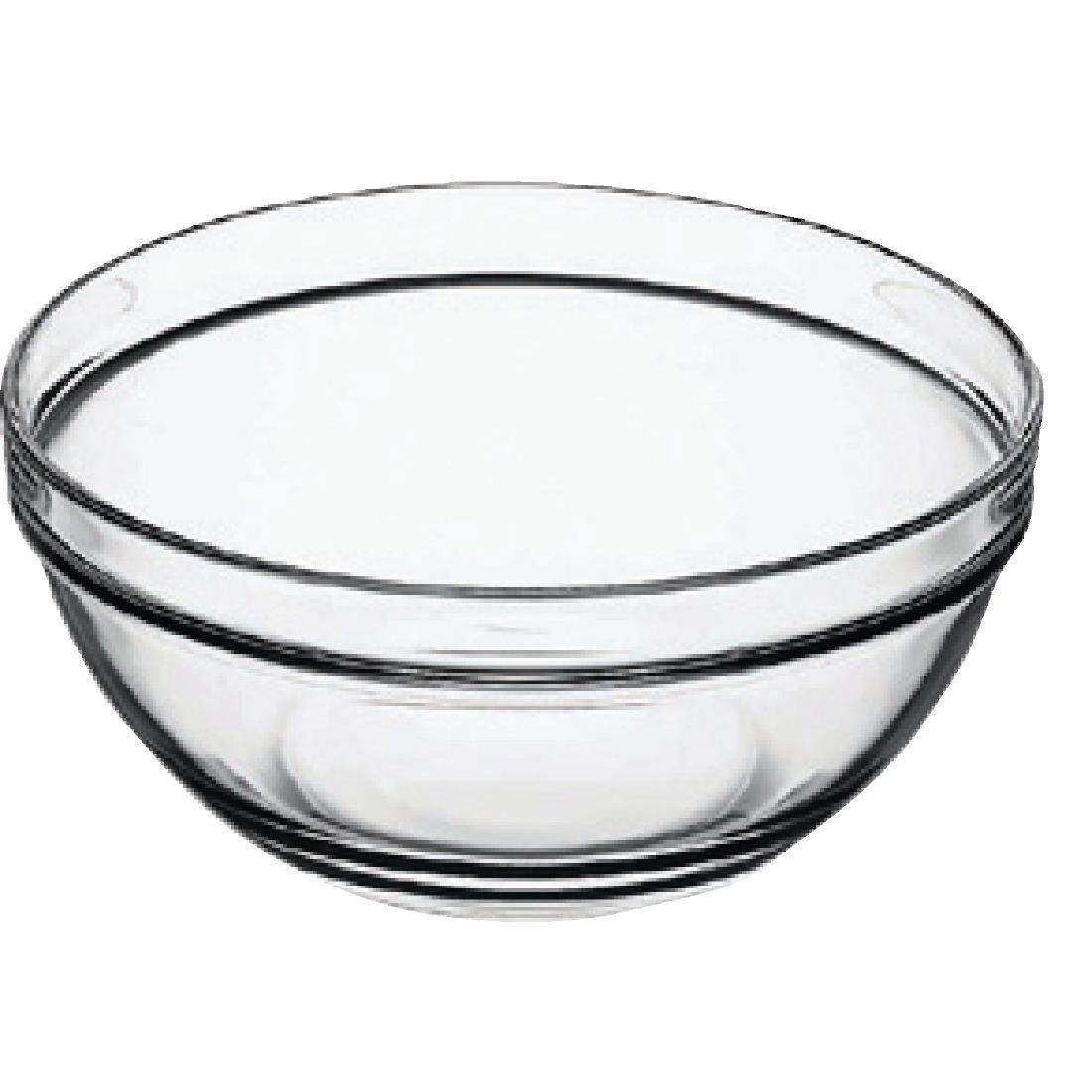 "Arc Chefs Glass Bowl - 126ml 4.5oz 9cm 3.6"" (Box 6) - E561"