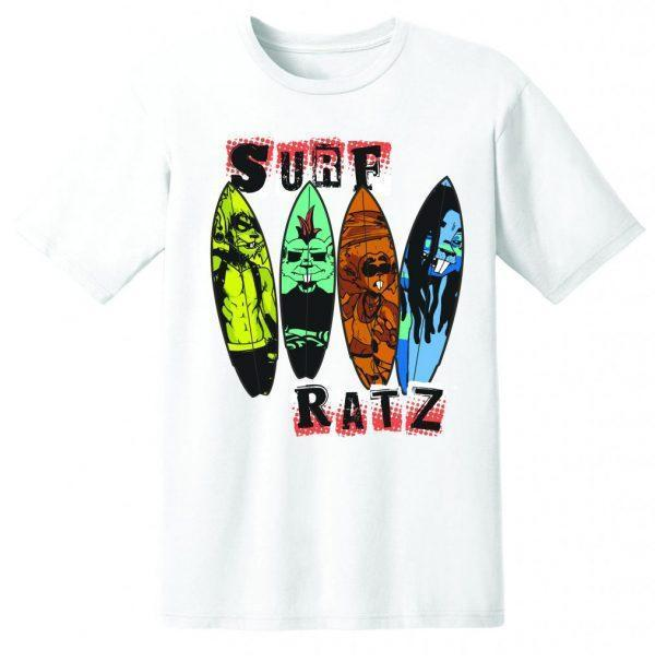 Surf Ratz Line-Up Surf T-Shirt – White - surf-ratzz